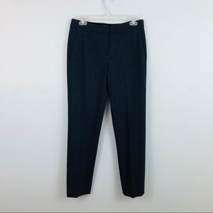 Theory | Navy Patterned Career Tailored Pants